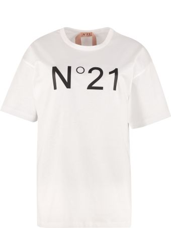 N.21 Logo Print Cotton T-shirt
