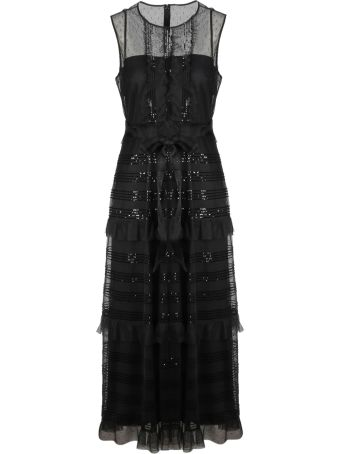RED Valentino Micro Sequin Tulle Dress