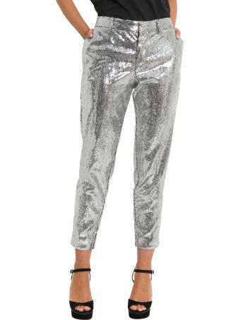 Dsquared2 Silver Sequins Trousers