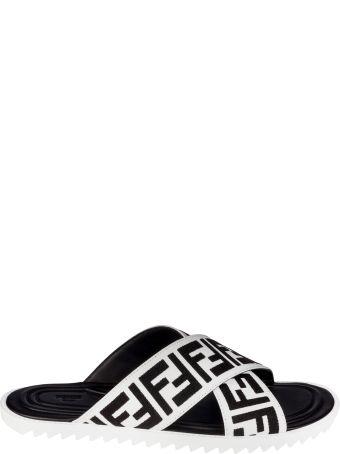 Fendi Jacquard Crossover Sliders