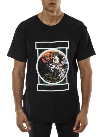 REPRESENT Black Cotton George & The Dragon T-shirt