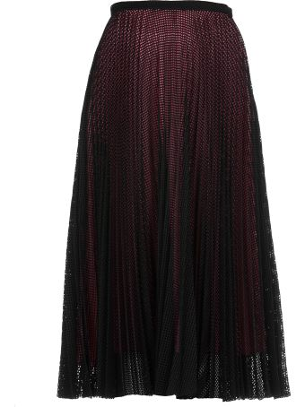 Marco de Vincenzo Pleated Openworked Skirt