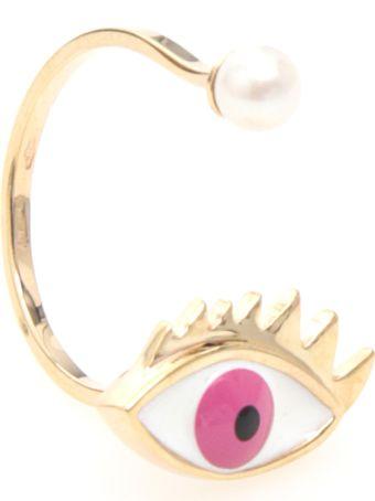 Delfina Delettrez Eye Ring 9kt Gold