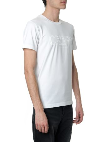 Calvin Klein White Cotton T-shirt With Embossed Logo