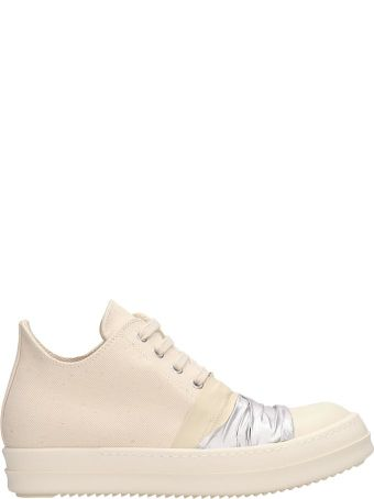 DRKSHDW White Fabric Low Sneakers