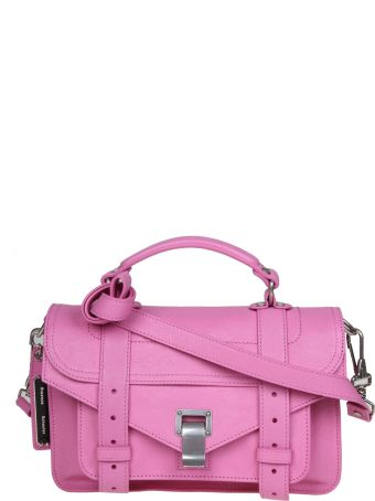 Proenza Schouler Ps1 Shoulder Bag In Pink Colored Leather