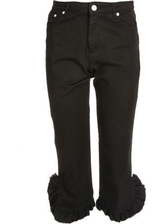 MSGM Ruffle Trim Jeans