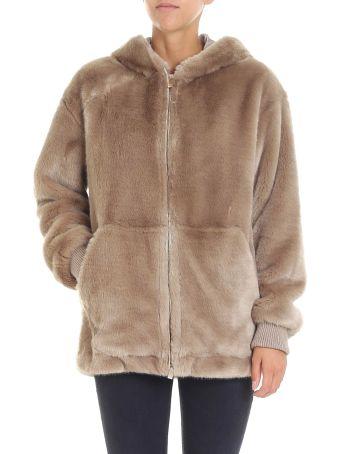Trussardi Jeans Fur-trimmed Jacket
