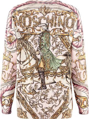 Moschino Printed Cotton Cardigan