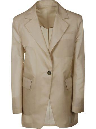 MSGM Single-buttoned Long Blazer