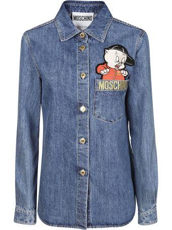 Moschino Embroidered Porky Pig Shirt