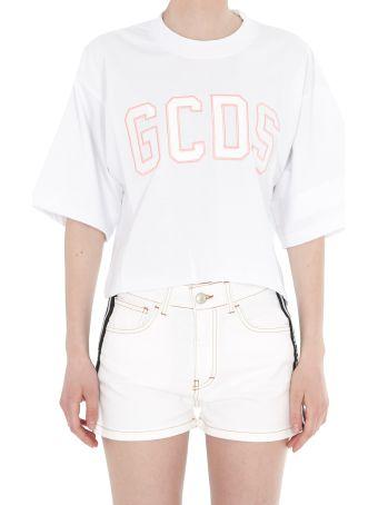 GCDS Logo Crop T-shirt