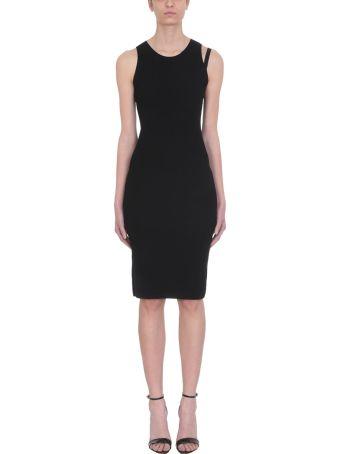Helmut Lang Parachute Black Viscose Dress