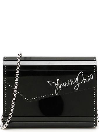 Jimmy Choo Crystal Logo Candy Clutch
