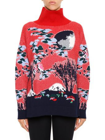 Barrie Jacquard Cashmere Pullover