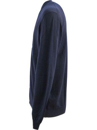 Fedeli Blue Wool Cardigan