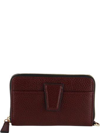 Gianni Chiarini Merlot Grained Leather Wallet