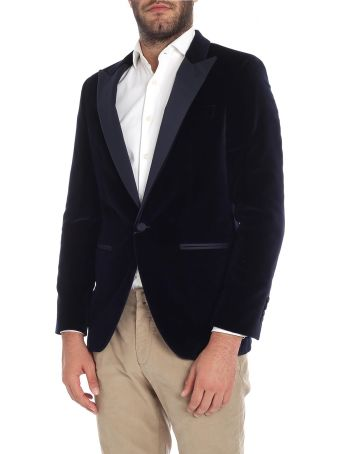 Hackett Jacket Velvet 450245r. Navy