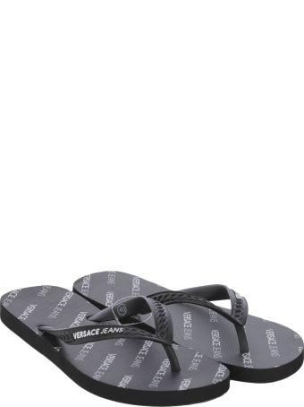 Versace Chain-embossed Flip Flops