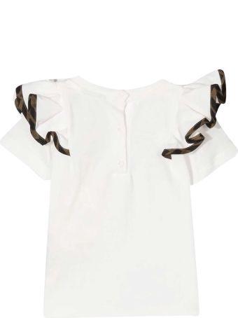 Fendi White T-shirt With Ruffles