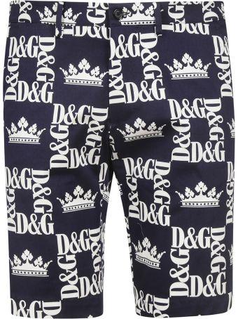 Dolce & Gabbana Logo Print Shorts