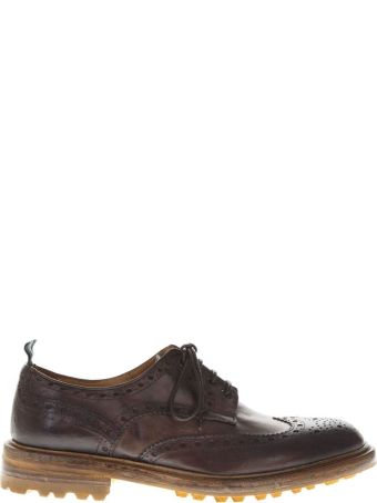 Green George Dark Brown Leather Derby Shoes