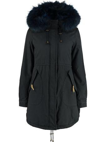 Alessandra Chamonix Blanche Parka With Fur Hood