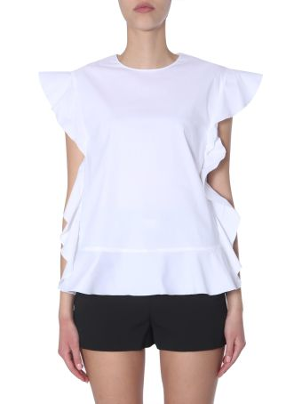 RED Valentino Top With Ruches Detail