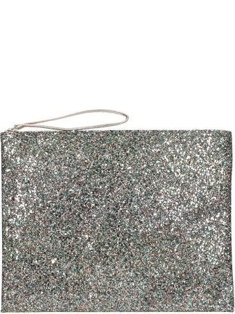 Anniel Big Clutch Green Glitter Pochette