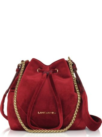 Lancaster Paris Quilted Velvet Couture Small Bucket Bag