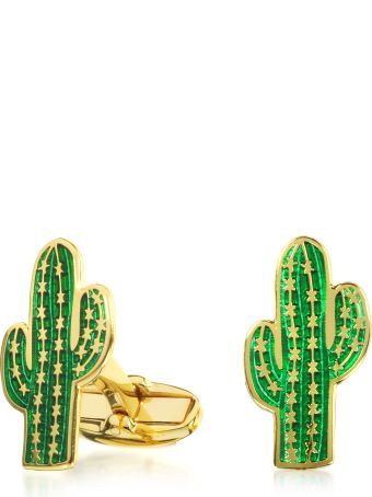 Paul Smith Men's Green Cactus Cufflinks