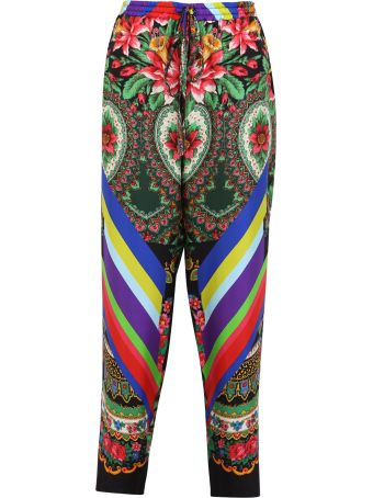Pierre-Louis Mascia Printed Silk Trousers