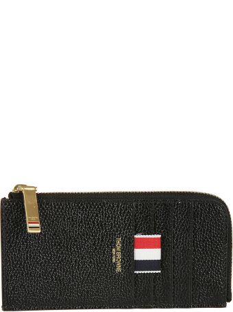 Thom Browne Black Half Zip-around Wallet