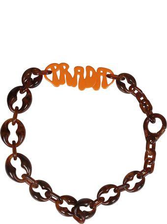 Prada Logo Necklace