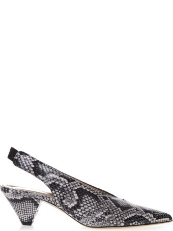 Aldo Castagna Gray Snake Printed Leather Slingback