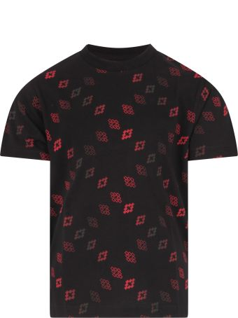 Marcelo Burlon Black T-shirt For Boy With Red Crosses