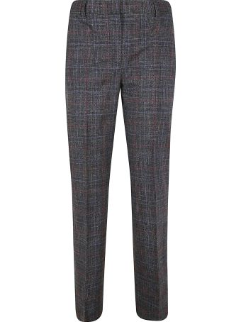 Alberta Ferretti Checked Slim Trousers