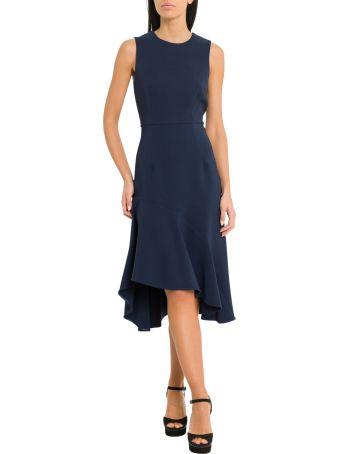 Parosh Midi Dress With Maxi Flounce