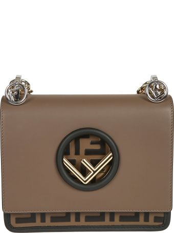 Fendi Round F Logo Shoulder Bag