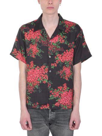 John Elliott Bowling Black And Red Cotton Shirt