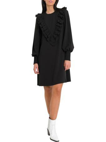 Ganni Clark A-line Dress With Ruffles