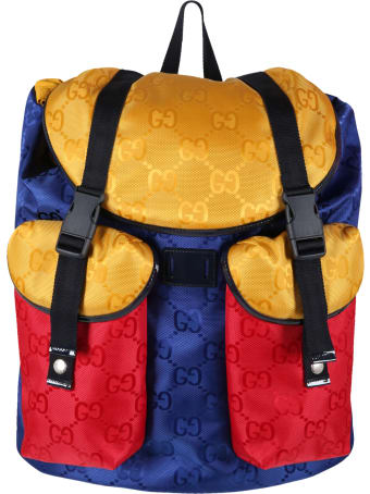Gucci Multicolor Backpack For Kids With Doubles Gg