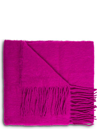 Jucca Purple Wool Blend Scarf With Fringes