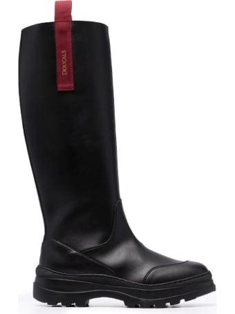 Doucal's Black Knee-high Boots