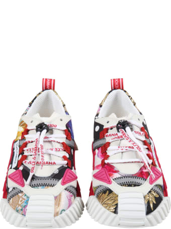 Dolce & Gabbana Multicolor Sneakers For Girl