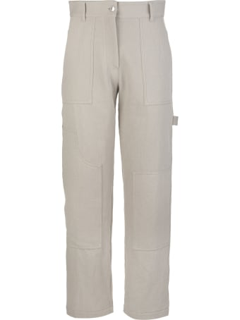 MSGM High-waisted Panelled Trousers