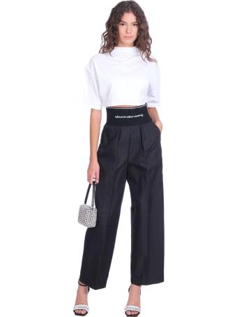 Alexander Wang Pants In Black Cotton