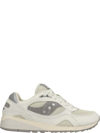 Saucony Shadow 6000 Sneakers In Grey Suede And Fabric