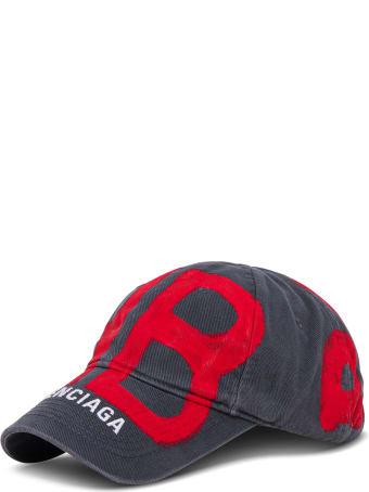 Balenciaga Cotton Cap With Logo Print