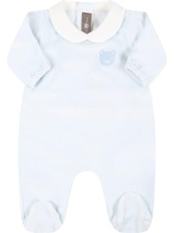 Little Bear Light Blue Babygrow For Baby Girl With Bear